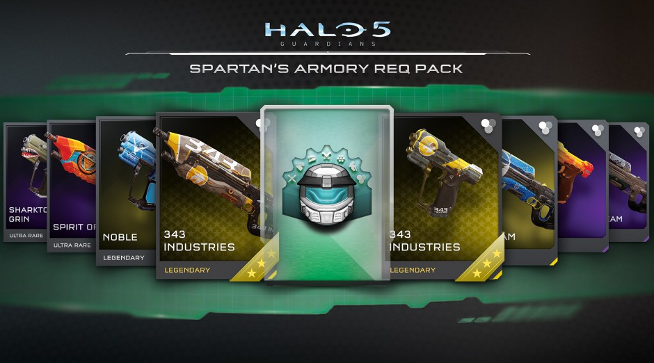 Halo 5 Guardians Spartans Armory REQ Pack 940x522