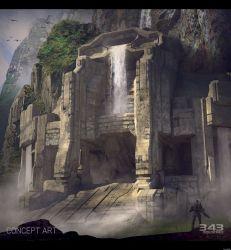 gamescom-2014-halo-2-anniversary-multiplayer-sanctuary-concept-waterfall